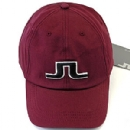 J Lindeberg Burgundy Bridge Solid Cap