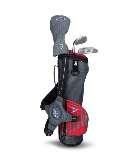 UL39-s 3 Club Carry Set, Grey/Red Bag