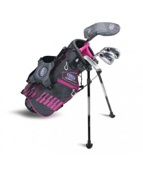 UL45-s LH 4 Club Stand Set, Grey/Pink Bag