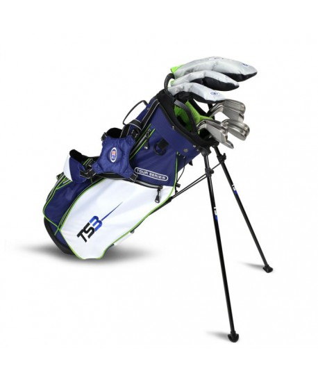 TS3-57 10 Club Set, Graphite Shafts, Navy/White/Lime Bag