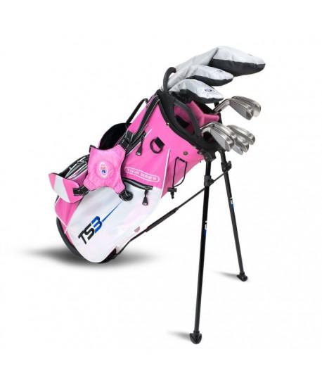 TS3-57 10 Club Set, Graphite Shafts, Pink/White Bag