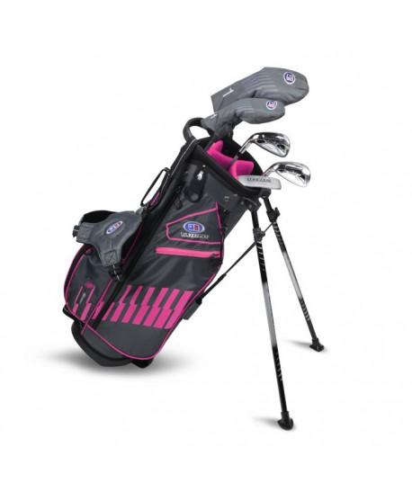 UL51-s LH 5 Club Stand Set, Black/Pink Bag