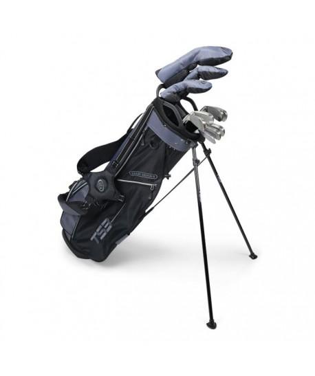 TS3-66 LH 10 Club Set, Combo Shafts, Charcoal/Black Bag